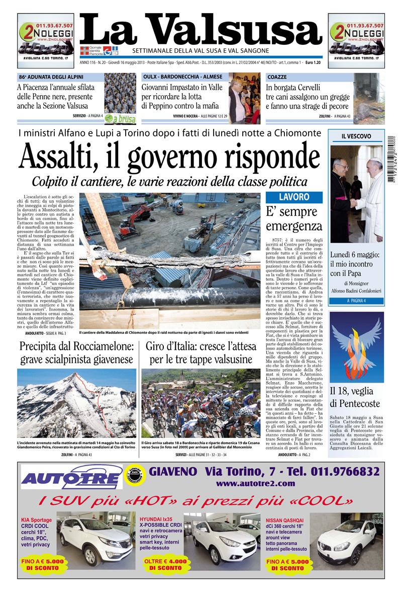n. 20 del 16 maggio 2013