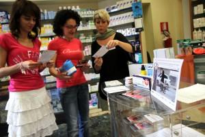 Alcune giornaliste torinesi impegnate nell'iniziativa