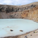 Il bagno caldo nel cratere del vulcano Askja