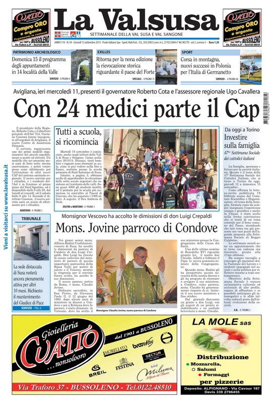 n. 34 del 12 settembre 2013