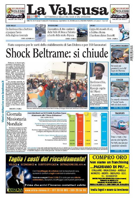 n. 39 del 17 ottobre 2013
