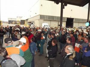 I lavoratori Beltrame in assemblea