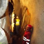 Il fronte di scavo del tunnel
