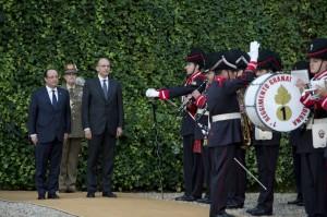 François Hollande e Enrico Letta