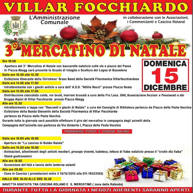 3° mercatino di Natale a Villar Focchiardo