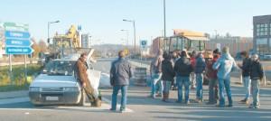 Blocco sulla circonvallazione di Avigliana