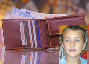 Buttigliera. Il piccolo Lorenzo e il portagoglio restituito