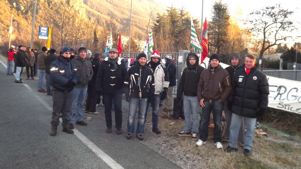 Caprie, lavoratori Bertone in agitazione