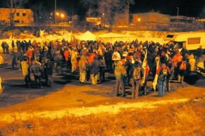 Le proteste del 2010 all'autoporto di Susa