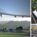 I rendering del nuovo autoporto di San Didero