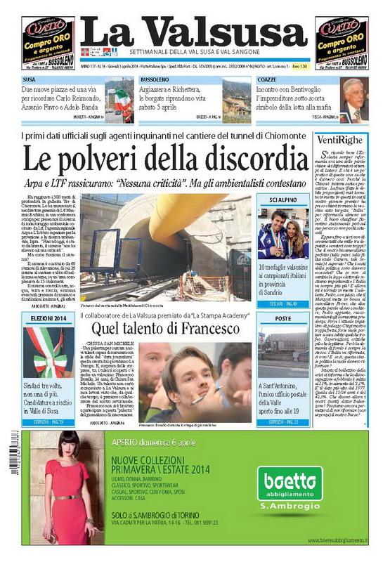 n. 14 del 3 aprile 2014