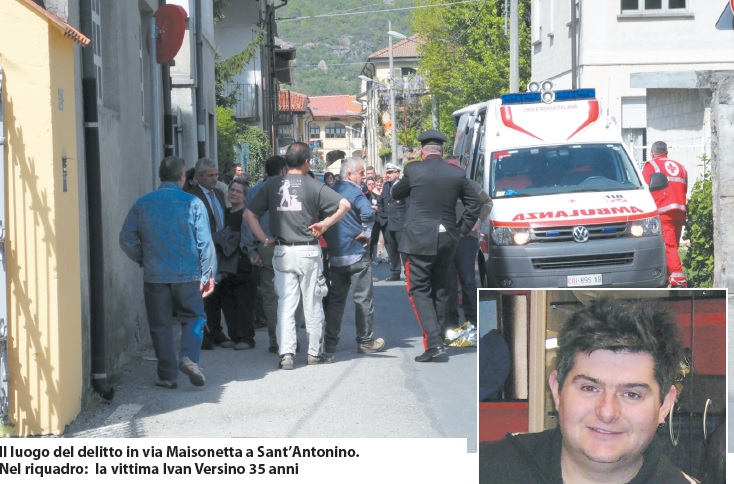 S.Antonino, ucciso a coltellate in centro paese