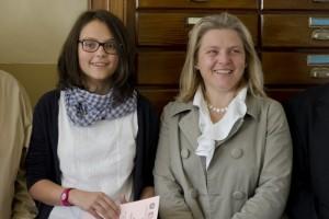 Carola Cibrario con la mamma Donatella Vasone