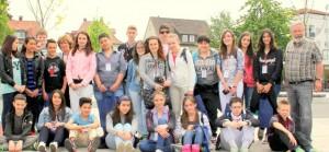 Gli studenti di S.Antonino durante il viaggio studio in Germania