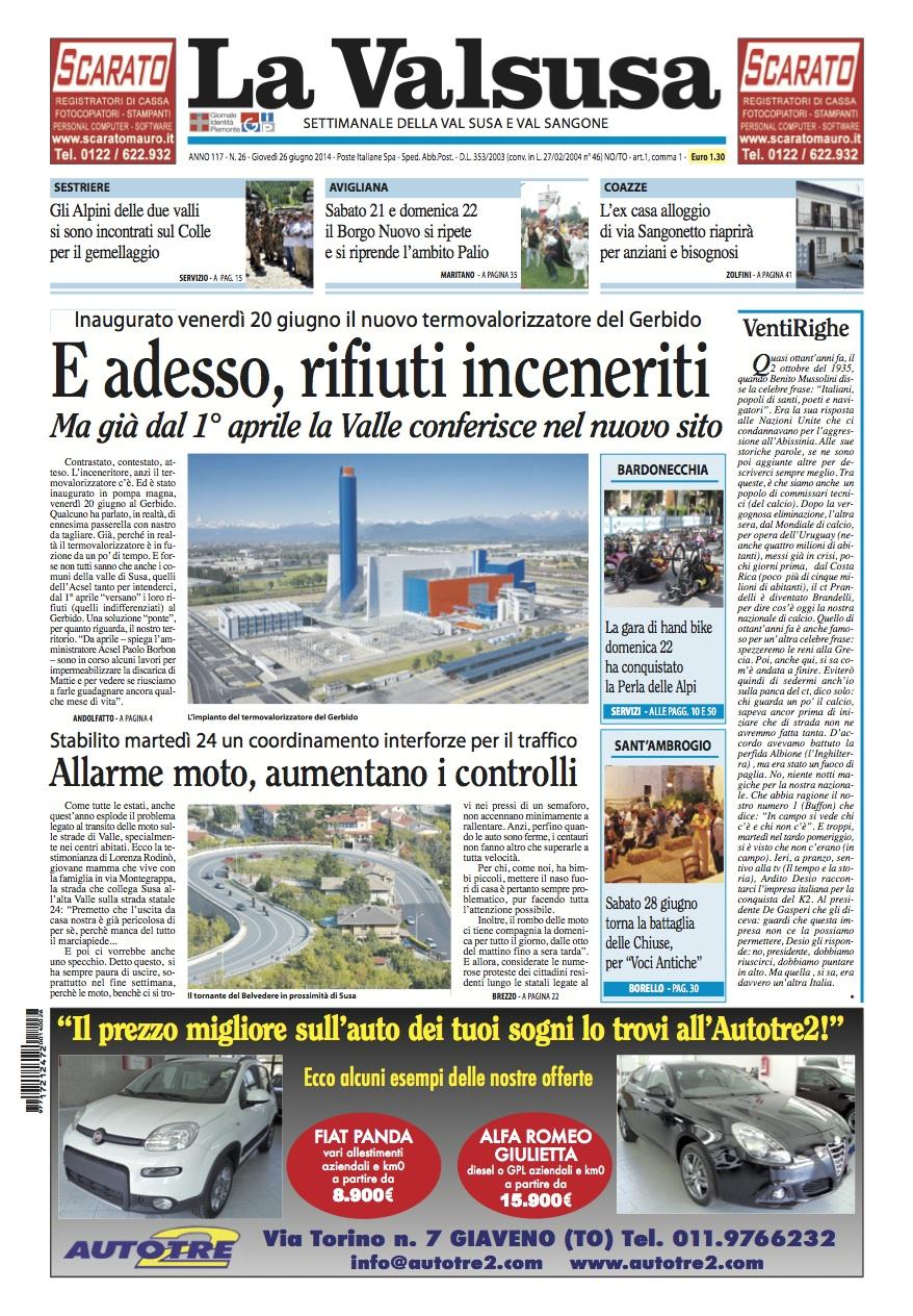 n. 26 del 26 giugno 2014