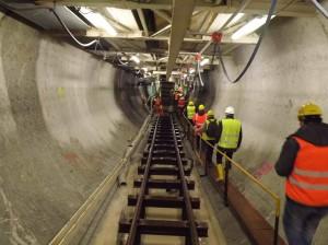 L'interno del tunnel