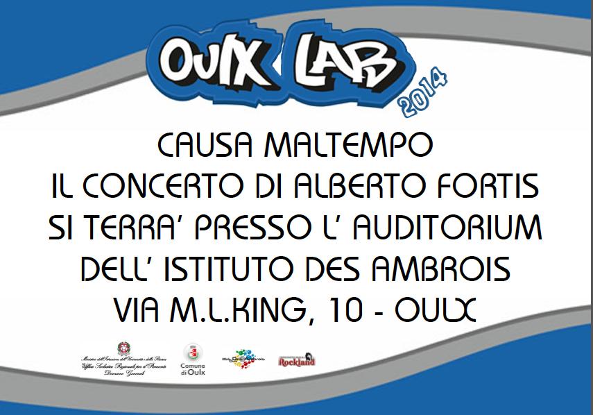 Oulx. Concerto Fortis al Des Ambrois