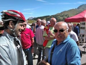 Cassani con l'organizzatore della corsa Petrella