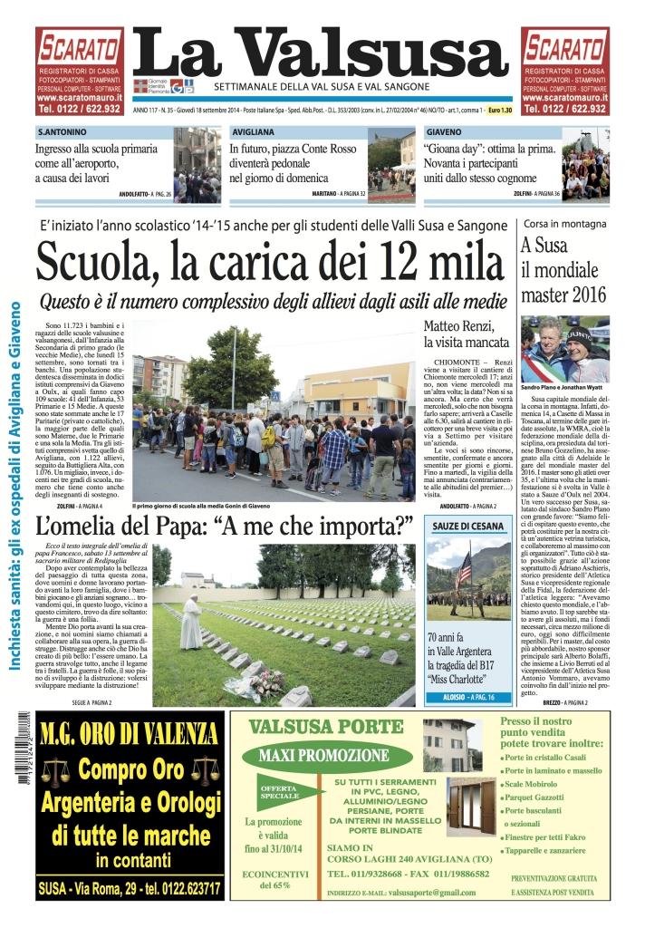 n. 35 del 18 settembre 2014