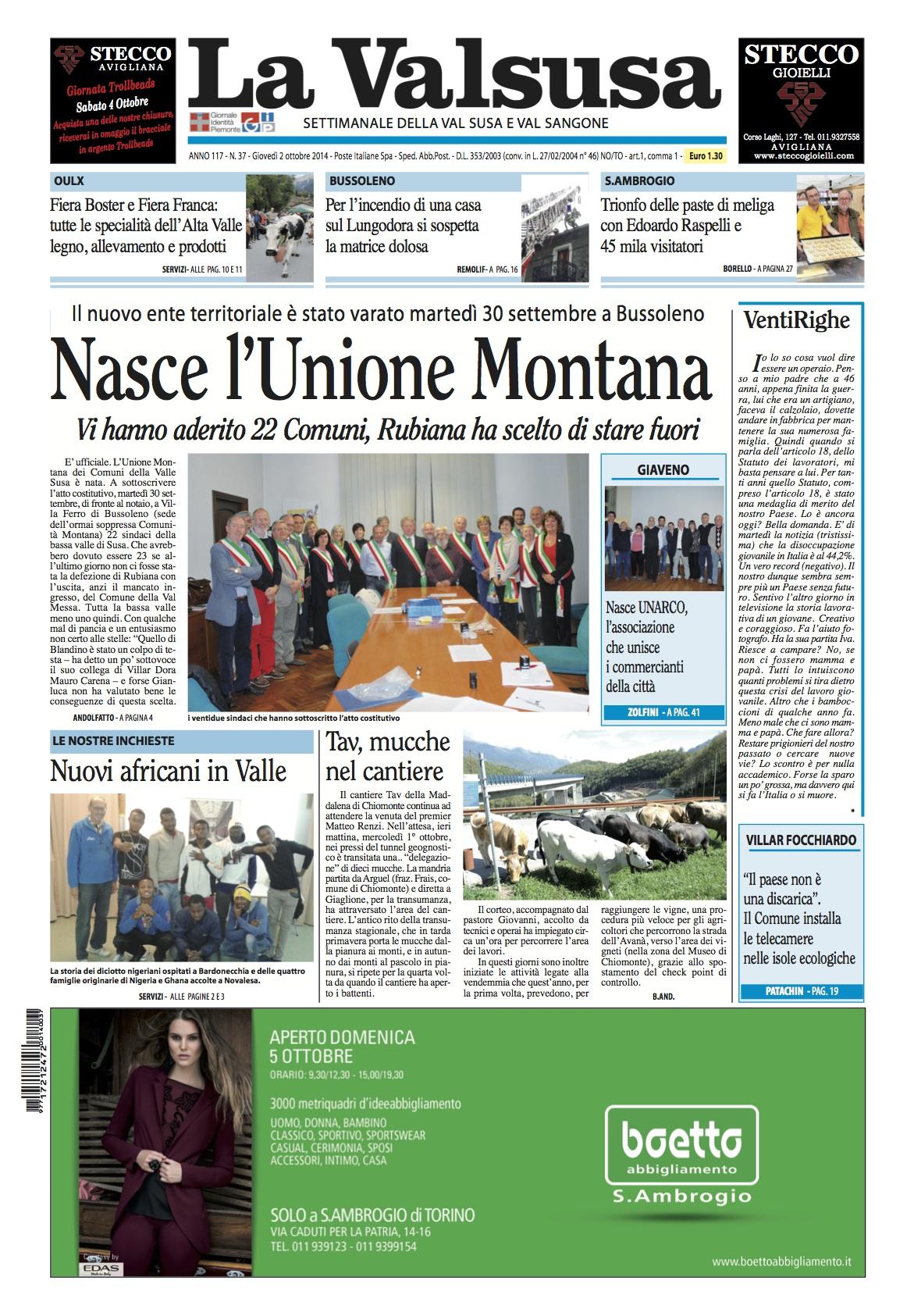 n. 37 del 2 ottobre 2014