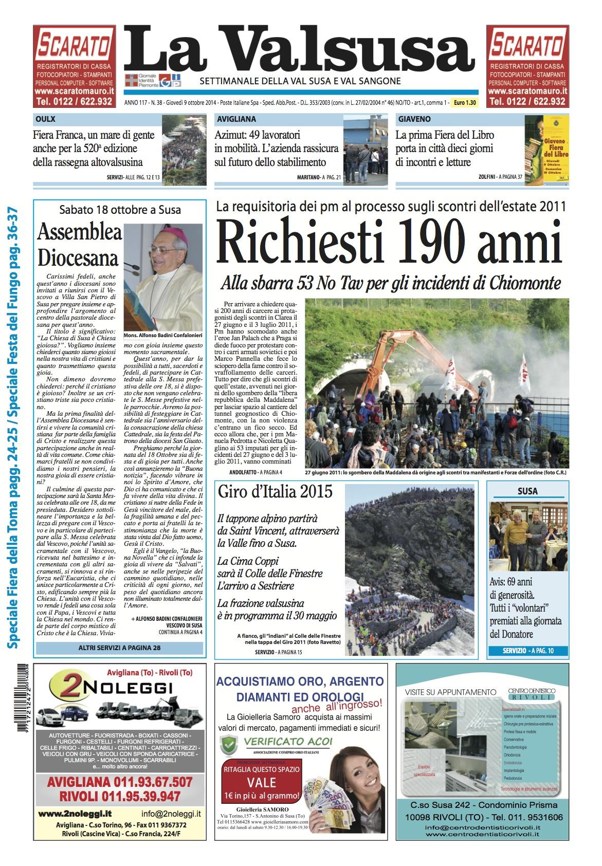 n. 38 del 9 ottobre 2014
