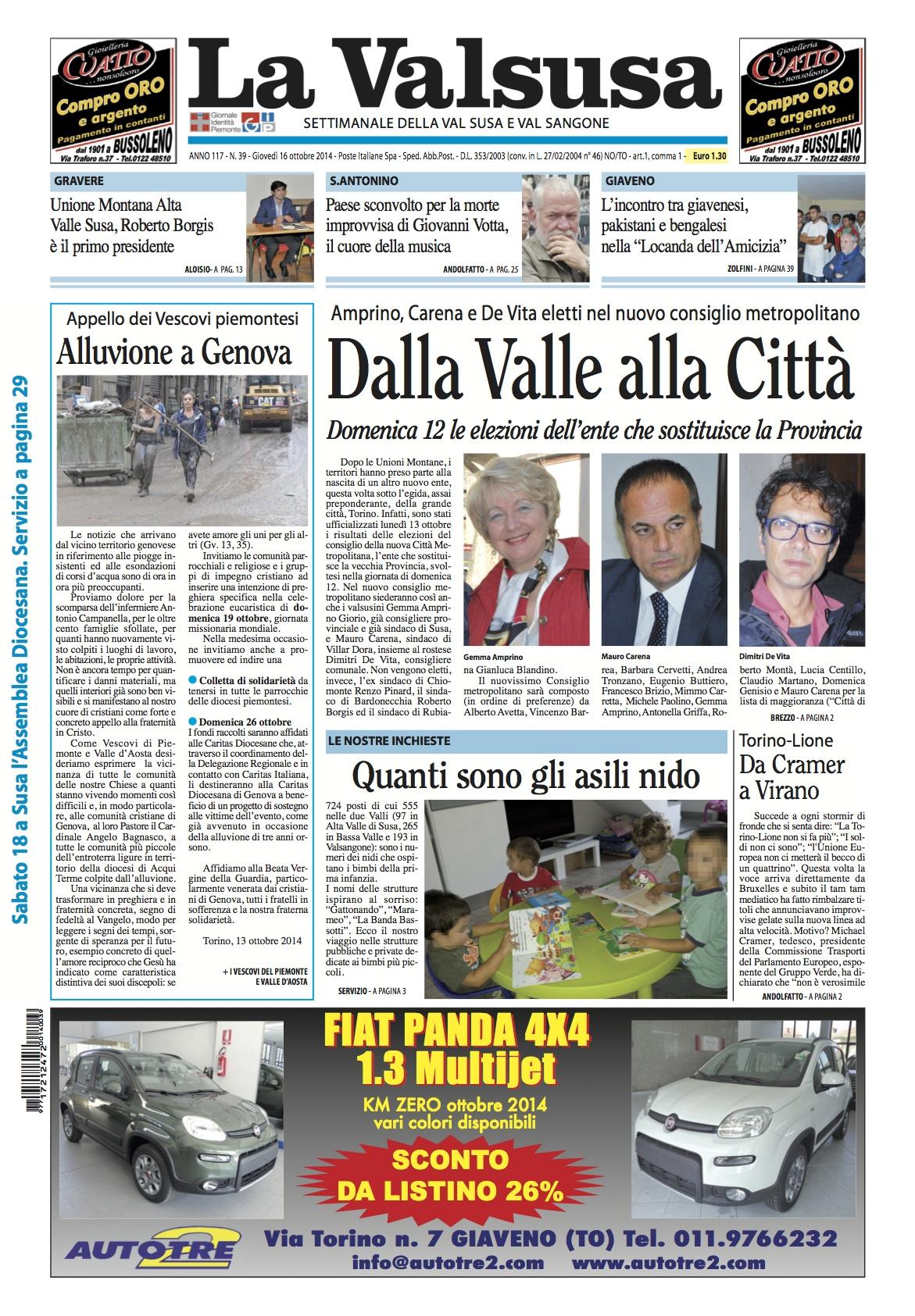 n. 39 del 16 ottobre 2014