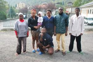 Gli africani ospiti a Novalesa