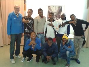 I giovani nigeriani ospitati  nell'ex convento dei frati di Bardonecchia