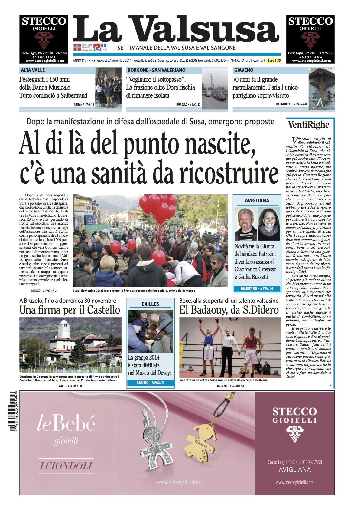 n. 45 del 27 novembre 2014