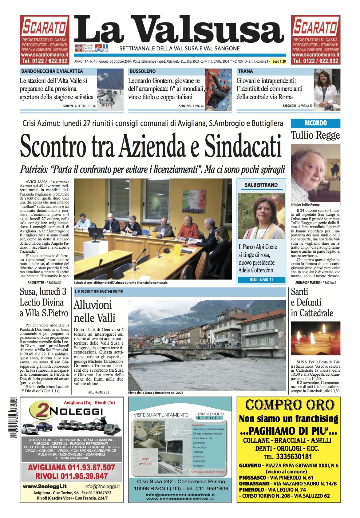 n. 41 del 30 ottobre 2014