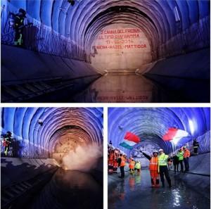 """La """"caduta"""" dell'ultimo diaframma del tunnel (foto Michele D'Ottavio)"""