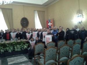 I lavoratori Vertek a Palazzo Lascaris