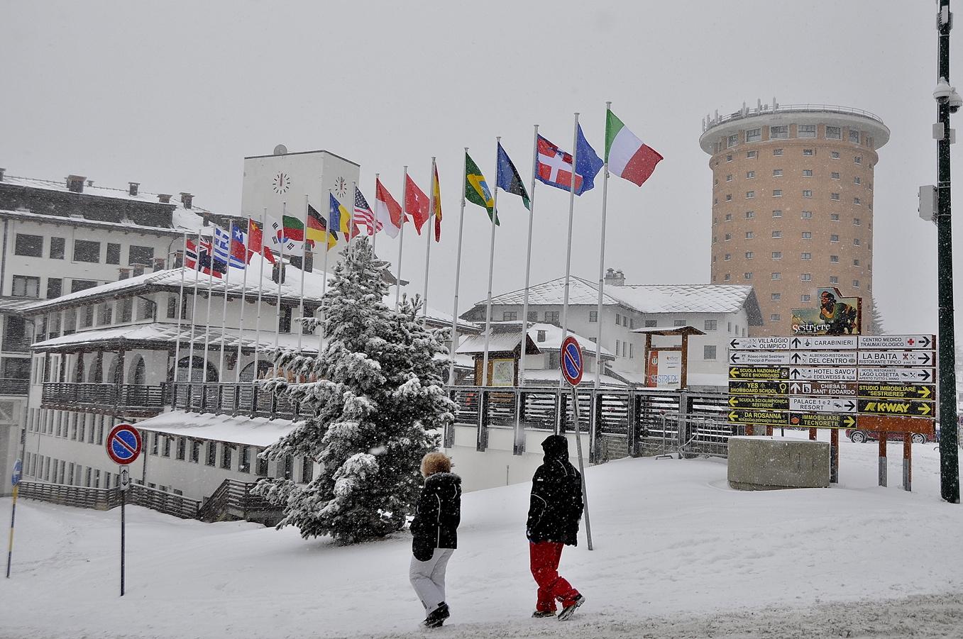 Prima nevicata del 2015 sulle Montagne Olimpiche