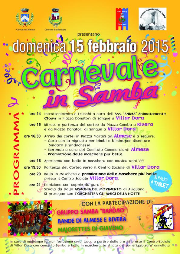 Carnevale in Samba 2015: Almese e Villar Dora insieme!