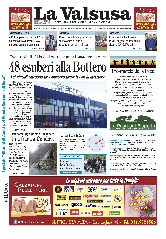 n. 12 del 26 marzo 2015