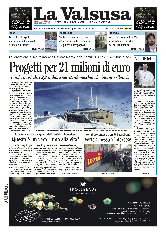 n. 14 del 9 aprile 2015