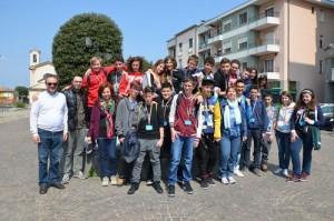 I ragazzi delle Medie di S.Antonino a Malpensa Fiere