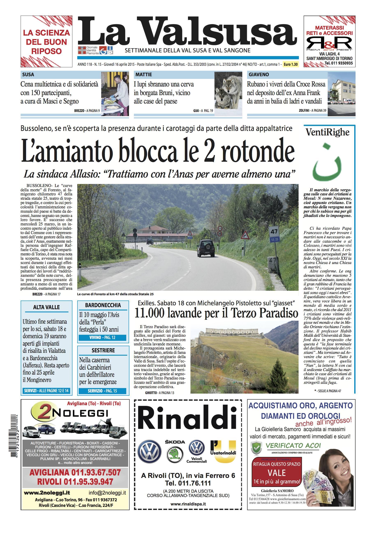 n. 15 del 16 aprile 2015