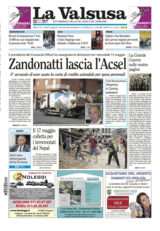 n. 19 del 14 maggio 2015