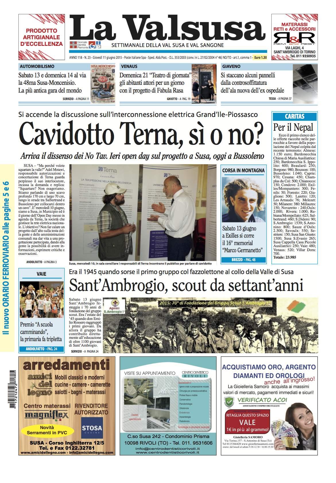 n. 23 del 11 giugno 2015