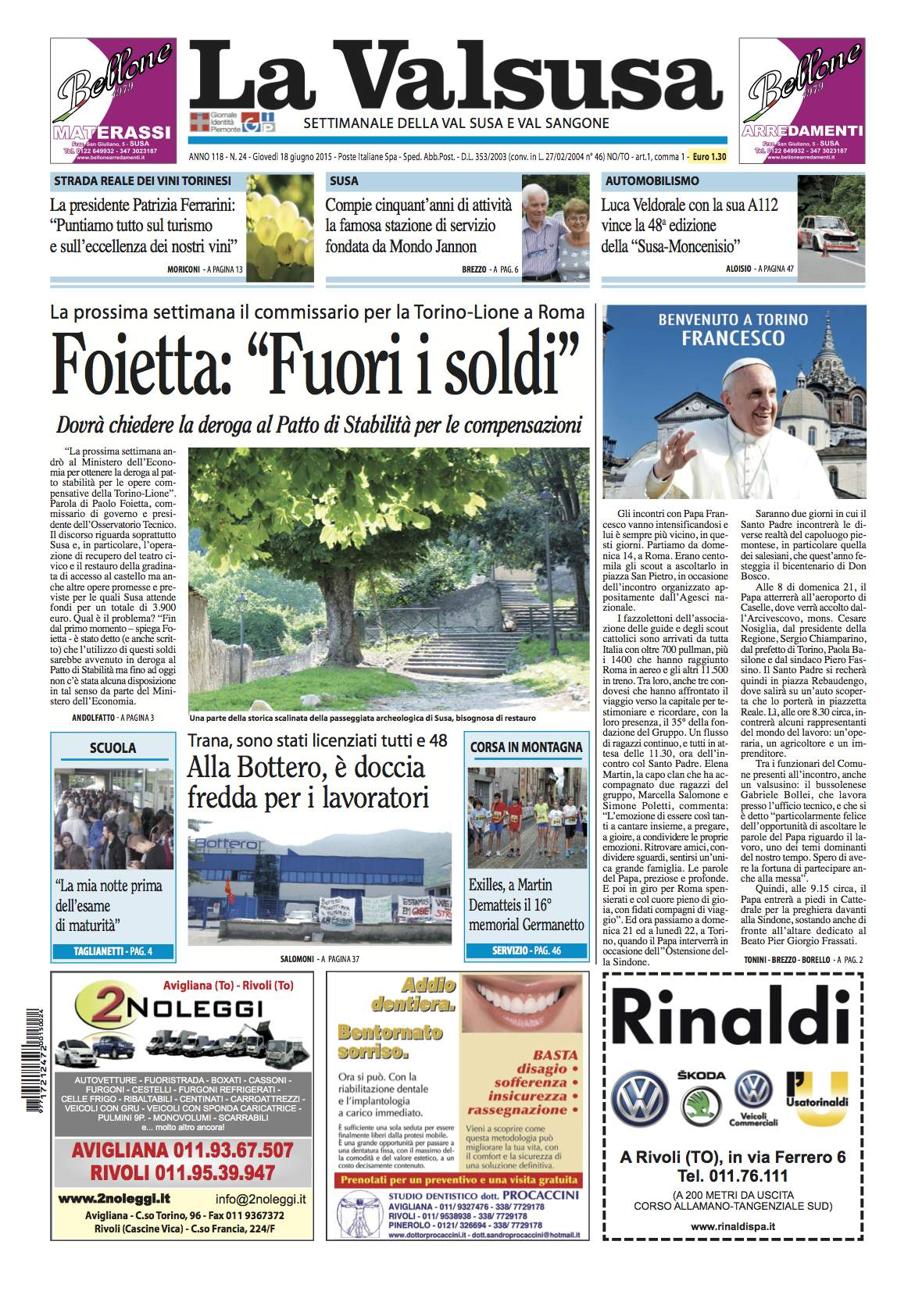 n. 24 del 18 giugno 2015