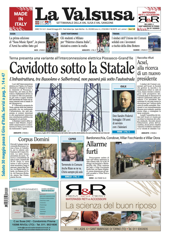 n. 21 del 28 maggio 2015