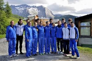 La Nazionale di Corsa in Montagna a Sestriere nel 2014