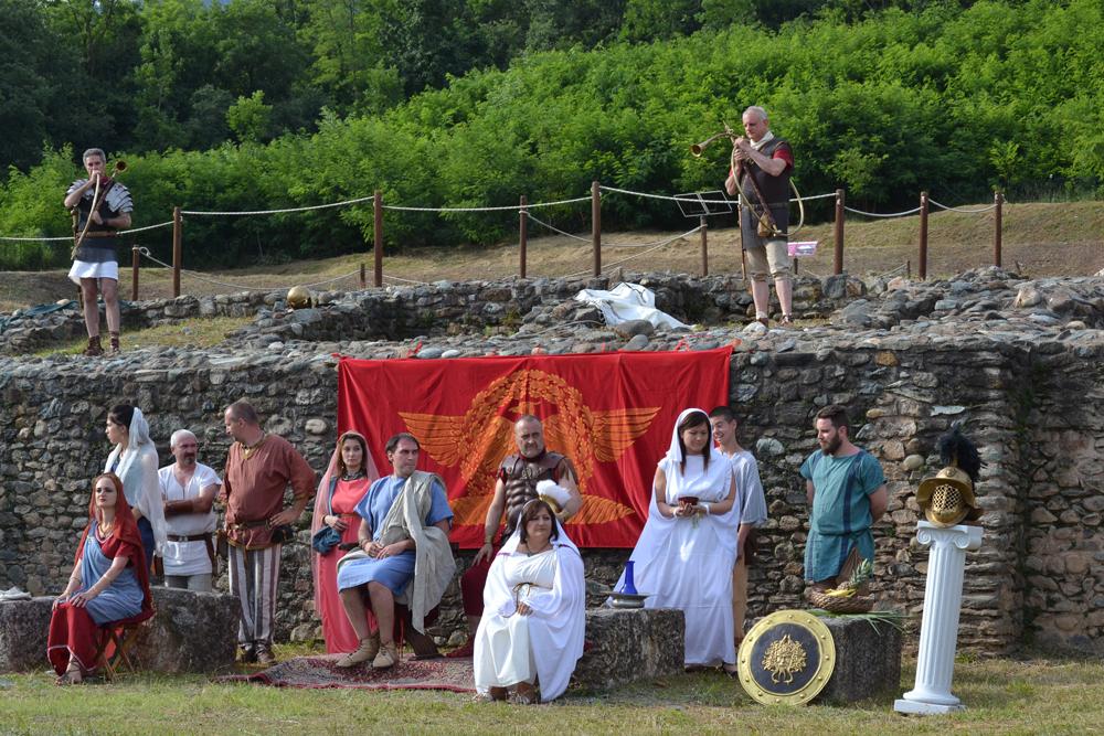 Successo per la rievocazione storica alla villa romana di Almese