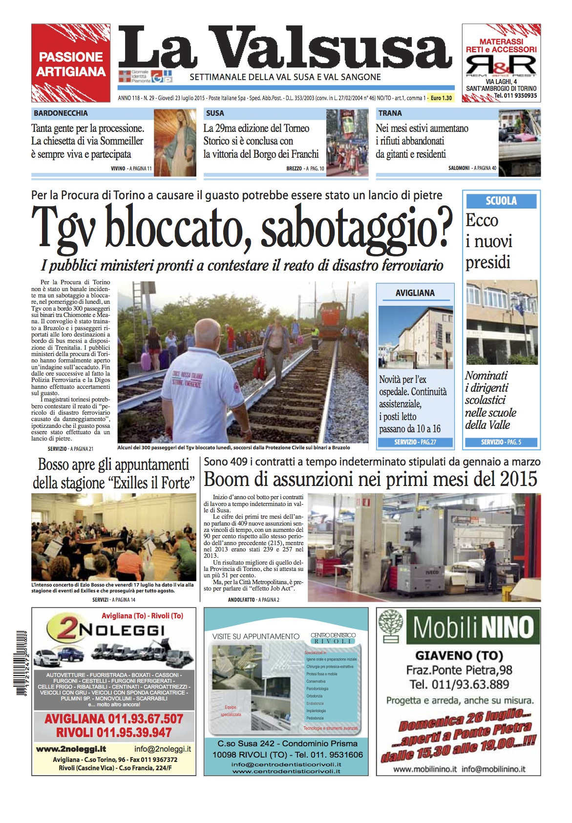 n. 29 del 23 luglio 2015