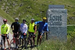 I ciclisti sul Moncenisio
