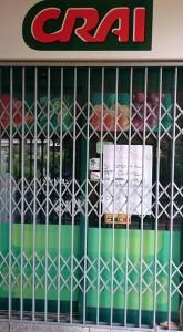 Il negozio chiuso