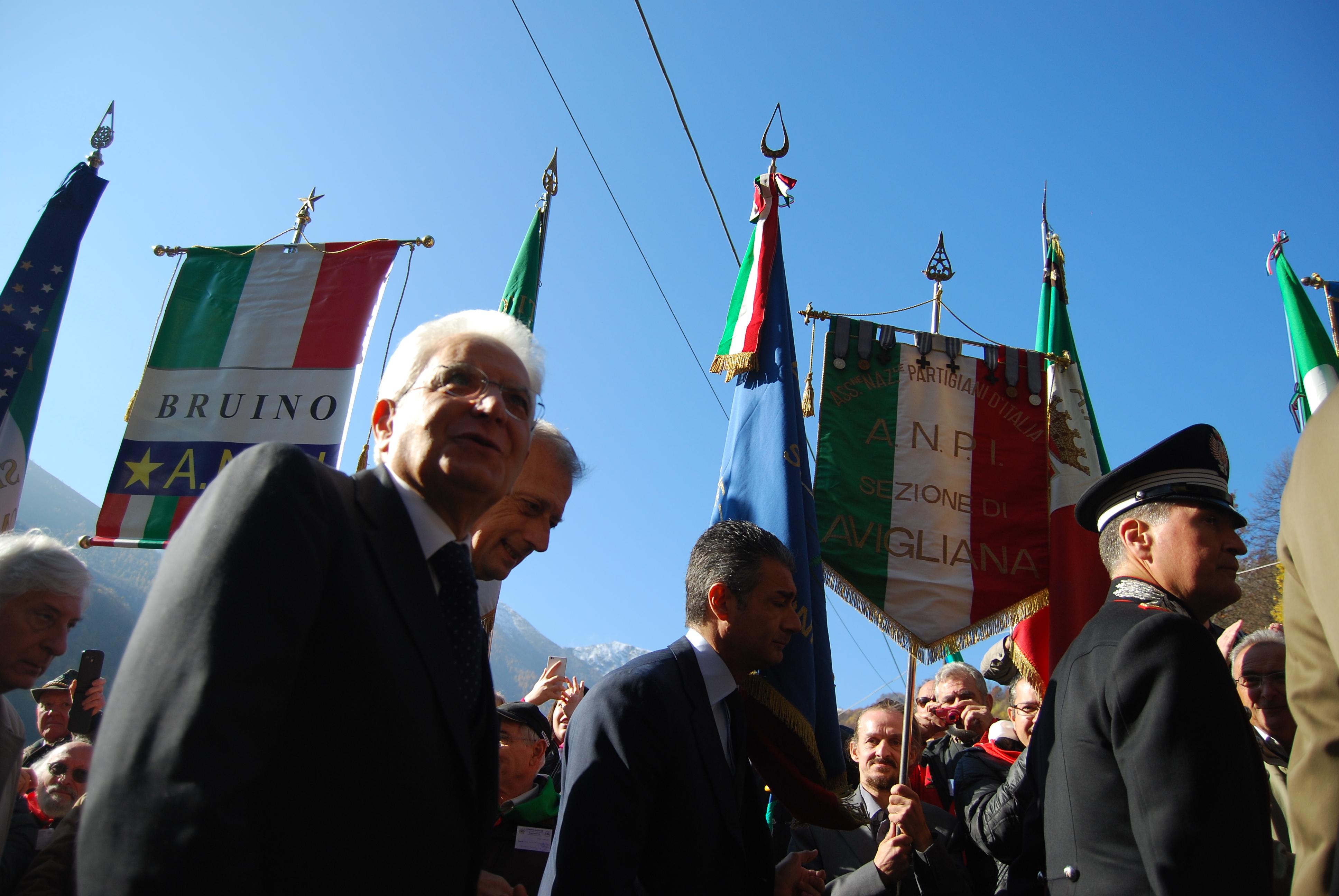 Coazze, il giorno del Presidente Mattarella
