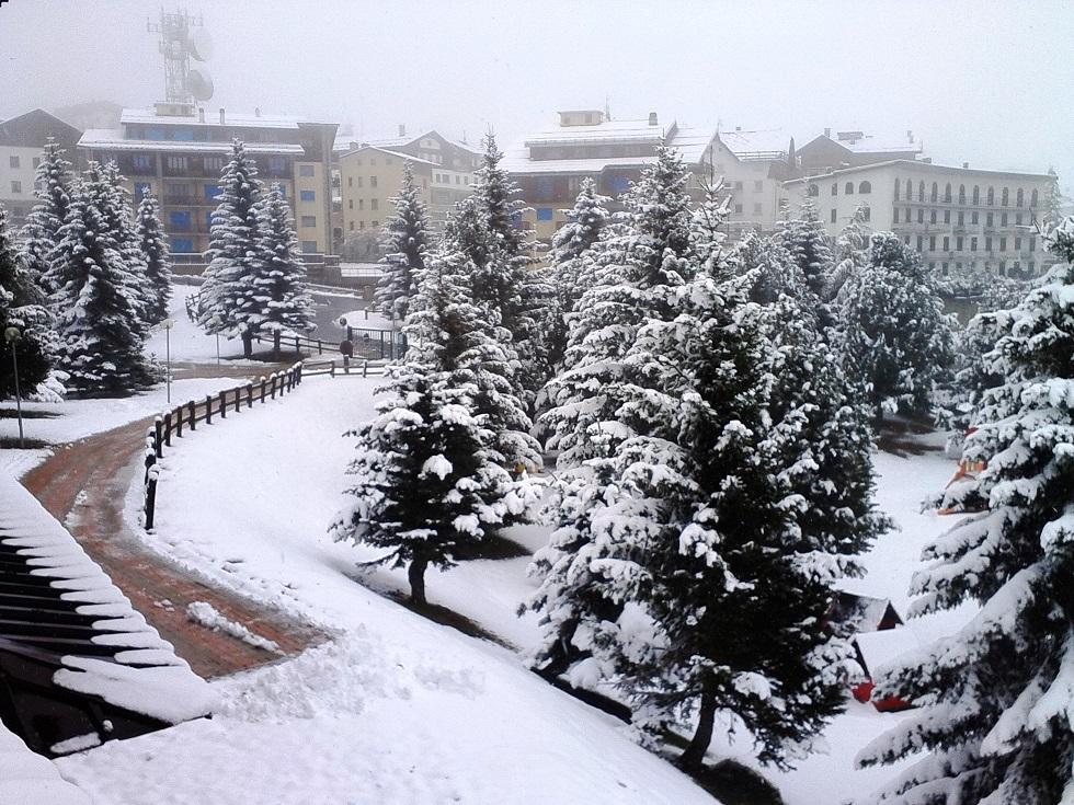 Prima nevicata a Sestriere