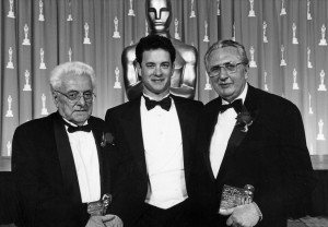 7 marzo 1992, Hollywood: Mario Celso riceve  l'Oscar da Tom Hanks